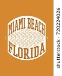 miami beach stamp vector... | Shutterstock .eps vector #720224026