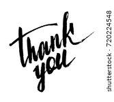 thank you  handwritten... | Shutterstock .eps vector #720224548