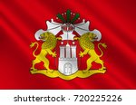 flag of hamburg is the second... | Shutterstock . vector #720225226