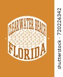 clear water beach stamp sea... | Shutterstock .eps vector #720226342