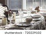 dinner plates | Shutterstock . vector #720229102