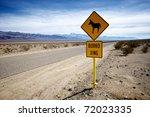 A Sign Warns Careless Traveler...