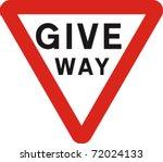 give way sign in vector   Shutterstock .eps vector #72024133