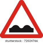 uneven road sign in vector   Shutterstock .eps vector #72024766