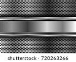 abstract silver banner overlap... | Shutterstock .eps vector #720263266