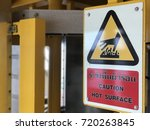 caution hot surface warning... | Shutterstock . vector #720263845