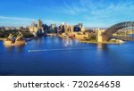 aerial  panorama of sydney city ... | Shutterstock . vector #720264658