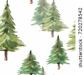 watercolor christmas set.... | Shutterstock . vector #720278542