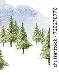 watercolor christmas set.... | Shutterstock . vector #720278776