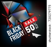 black friday sale poster. 3d... | Shutterstock .eps vector #720279775