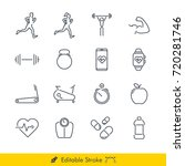 simple fitness icons   vectors...
