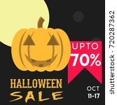 halloween sale tag poster | Shutterstock .eps vector #720287362