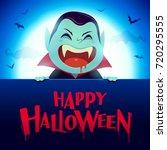 happy halloween  vampire with...   Shutterstock .eps vector #720295555