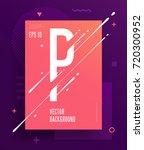 cool abstract alphabet poster... | Shutterstock .eps vector #720300952