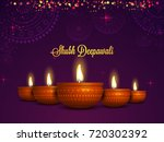 realistic illuminated oil lamps ... | Shutterstock .eps vector #720302392