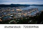 dusk falls over bergen and... | Shutterstock . vector #720304966