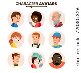 people characters avatars set.... | Shutterstock . vector #720305326