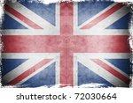 grunge flag uk  england | Shutterstock . vector #72030664
