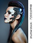 shot of a futuristic young... | Shutterstock . vector #720310948