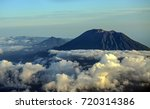 beautiful mount agung and the... | Shutterstock . vector #720314386