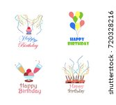 birthday vector logo design... | Shutterstock .eps vector #720328216