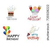 birthday vector logo design... | Shutterstock .eps vector #720328222