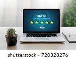 online reviews evaluation time... | Shutterstock . vector #720328276