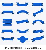 flat vector ribbons banners... | Shutterstock .eps vector #720328672