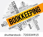 bookkeeping word cloud collage  ... | Shutterstock .eps vector #720334915