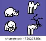 animal mix vector logo isolated | Shutterstock .eps vector #720335356