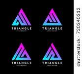 triangle line logo design... | Shutterstock .eps vector #720340312