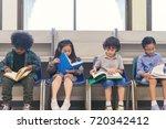 little child boys and girl...   Shutterstock . vector #720342412