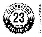 23 years anniversary logo.... | Shutterstock .eps vector #720343582