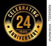 24 years anniversary logo.... | Shutterstock .eps vector #720343606
