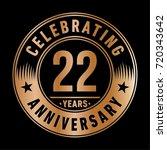 22 years anniversary logo.... | Shutterstock .eps vector #720343642
