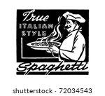 italian style spaghetti   retro ... | Shutterstock .eps vector #72034543
