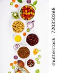 selection of legumes spices... | Shutterstock . vector #720350368