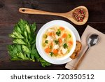 an overhead photo of a plate of ... | Shutterstock . vector #720350512