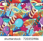 cute brightly holiday seamless... | Shutterstock .eps vector #720353986