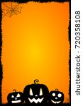 Stock photo halloween card template 720358108