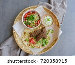 delicious homemade middle... | Shutterstock . vector #720358915