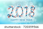 2018 happy new year background... | Shutterstock .eps vector #720359566
