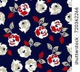 Floral Pattern On Navy...