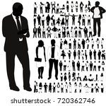 isolated  silhouette people ... | Shutterstock . vector #720362746