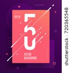 cool abstract numbers poster... | Shutterstock .eps vector #720365548