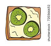 toast with kiwi vector...   Shutterstock .eps vector #720366652