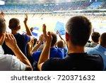 football  soccer fans support... | Shutterstock . vector #720371632
