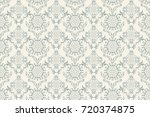 seamless floral ornament on... | Shutterstock .eps vector #720374875