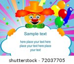 circus clown with the blank... | Shutterstock .eps vector #72037705