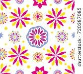 seamless tiling vector texture... | Shutterstock .eps vector #720387085